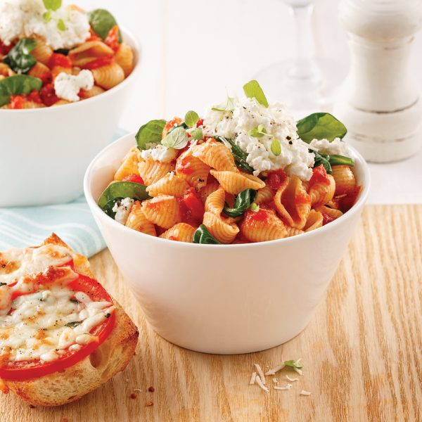Coquilles aux tomates et ricotta