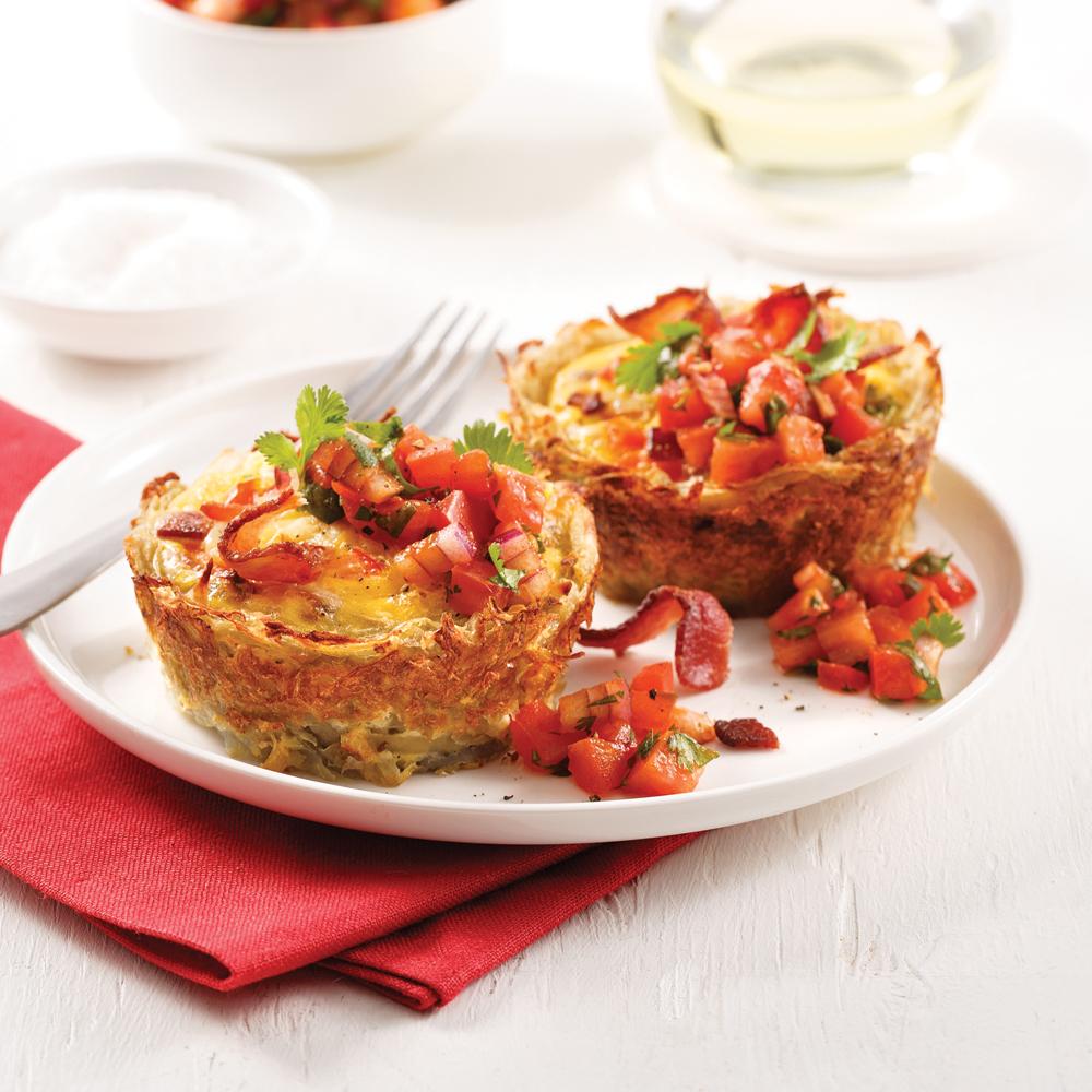 Mini-quiches aux pommes de terre et bacon