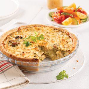 Pâté au poulet et brocoli gratiné