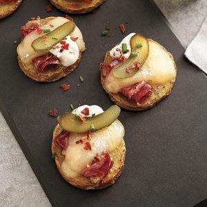 Mini-raclette au fromage Religieuse en bouchées