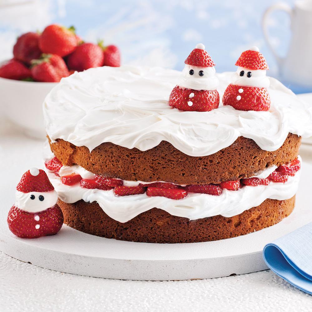 Shortcake de Noël aux fraises