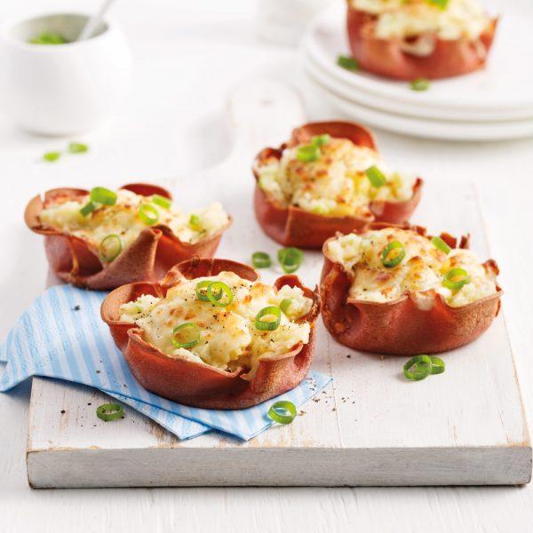 Baluchons de baloney aux pommes de terre gratinées