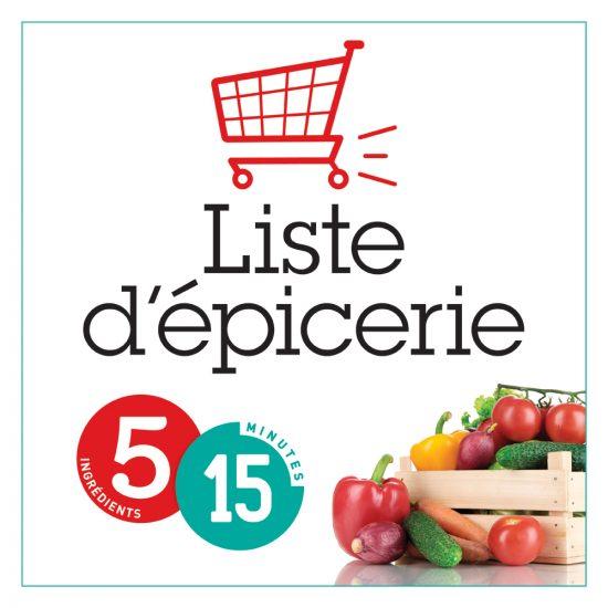 Liste d'épicerie 5-15