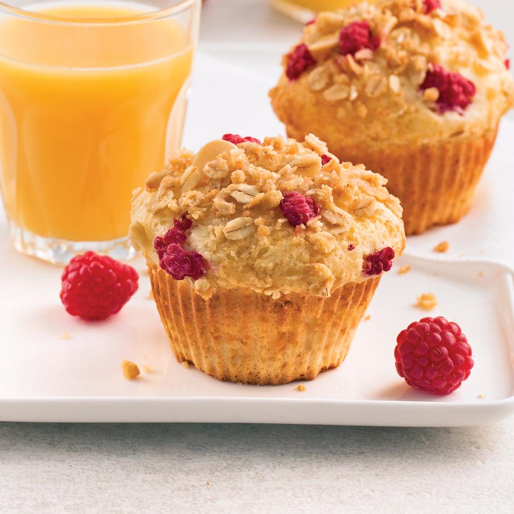 Muffins aux framboises et yogourt