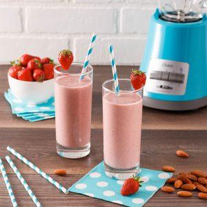Smoothie fraises-bananes protéiné