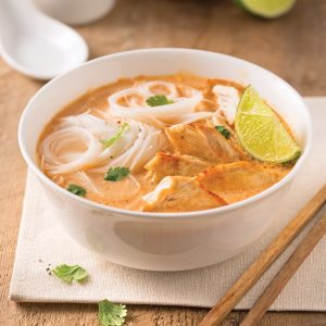 Soupe au poulet thaï