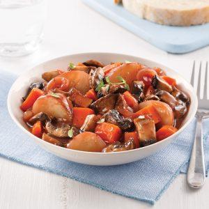 Ragoût de portobellos et pommes de terre grelots