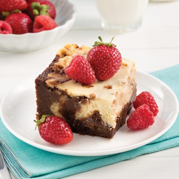 Brownie marbré à saveur de cheesecake à la mijoteuse