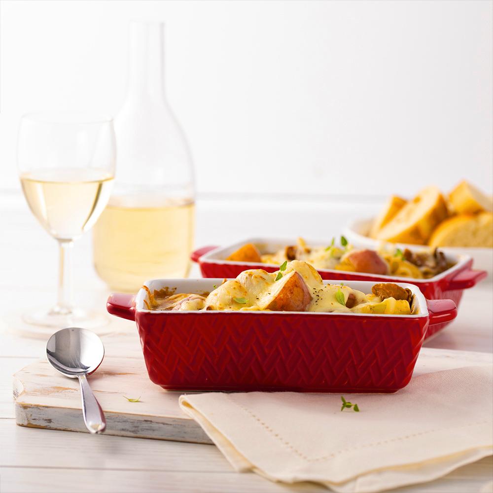 Cassolettes de soupe à l'oignon, bœuf et pommes de terre