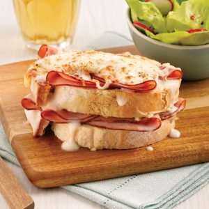 Croque-monsieur gourmand au jambon