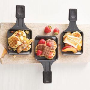 Raclette brunch aux gaufres et aux fruits