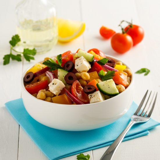 Salade de pois chiches à la grecque