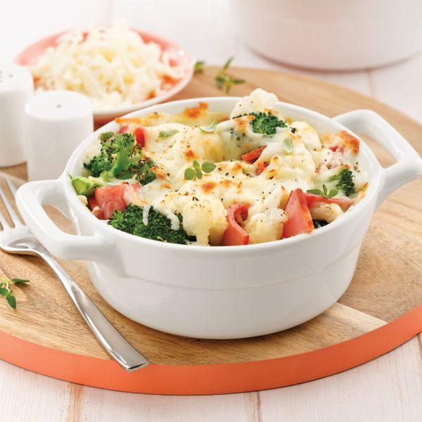 Gratin de légumes et capicolli