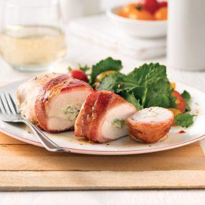 Poulet asperges et bacon