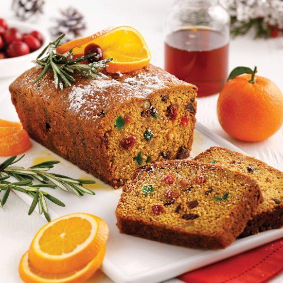 Gâteau aux fruits au parfum d'agrumes