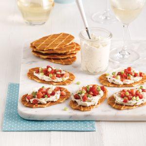 Galettes au fromage et pancetta