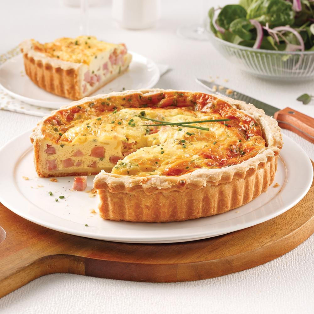 Quiche au jambon et fromage - 5 ingredients 15 minutes
