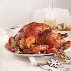 Traditional Roast Turkey With Flavoured Butter