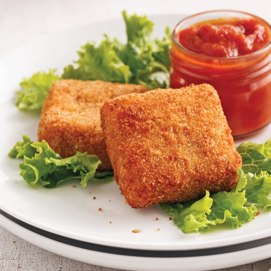 Easy Fried Parmesan Squares