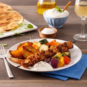 Souvlakis de porc à la grecque
