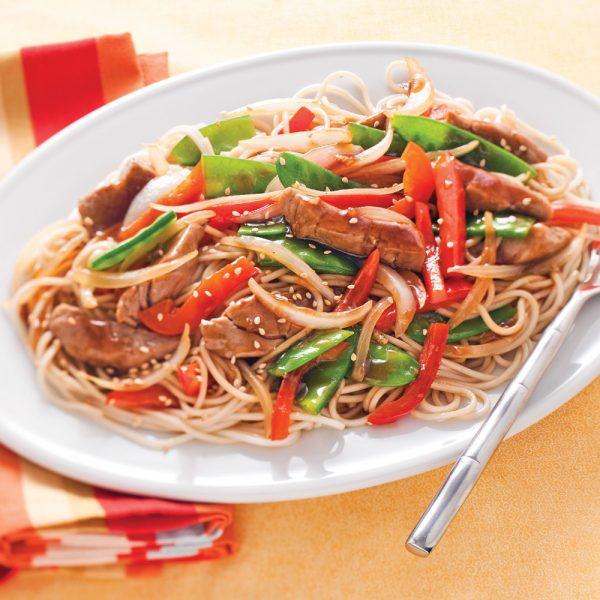 Teriyaki Pork and Vegetable Stir-fry