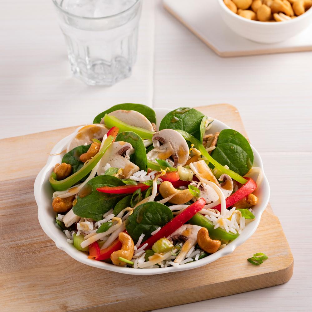 Salade d'amour, vinaigrette au miso