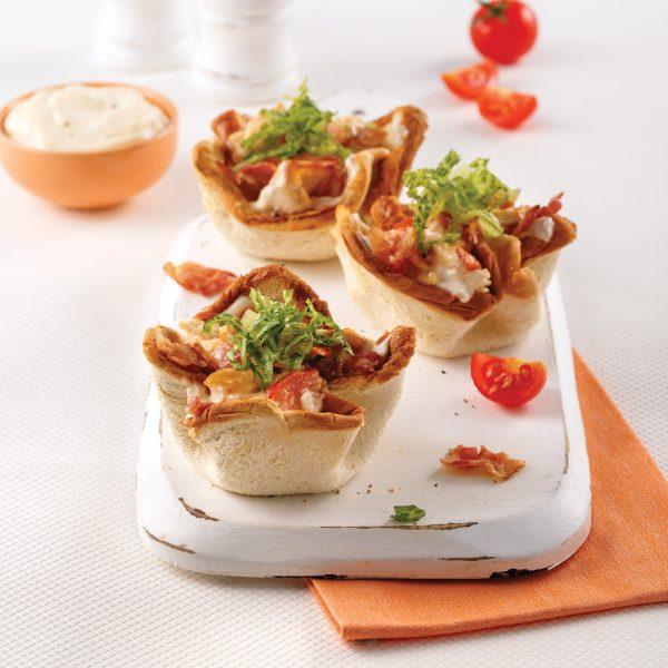Coupelles style club sandwich