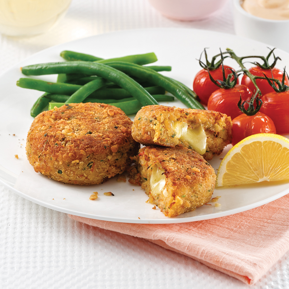 Crab cakes au cheddar extra-fort