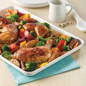 Cuisses de poulet à l'italienne sur la plaque