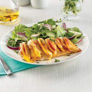 Poitrines de poulet hasselback à la raclette
