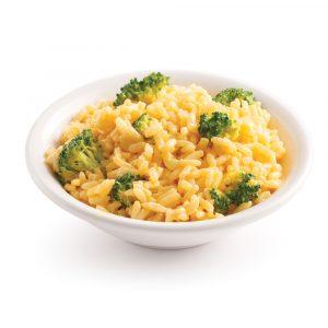 Riz au fromage et brocoli