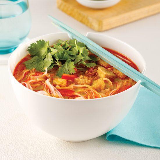 Soupe thaïe au tofu