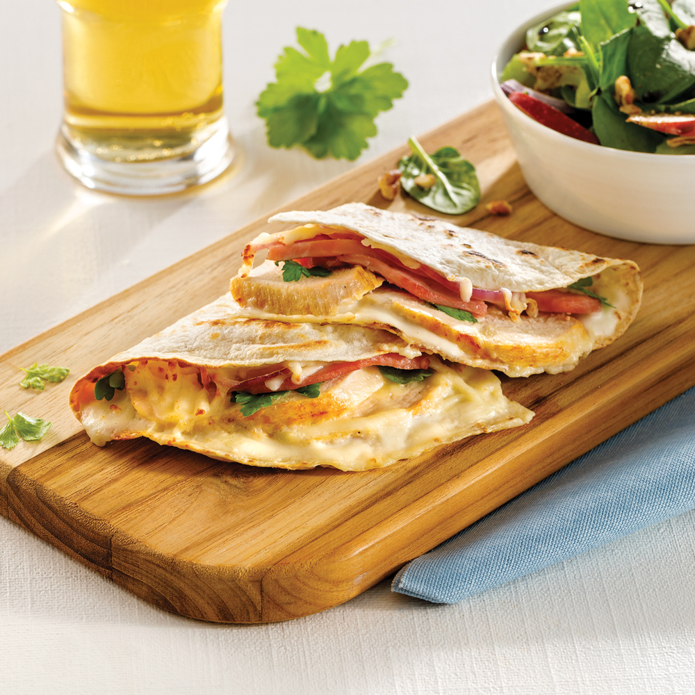 Quesadillas cordon bleu