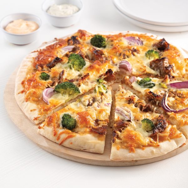 Pizza à la fondue chinoise