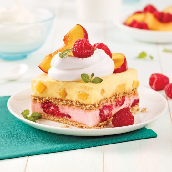 Strawberry Peach Icebox Cake