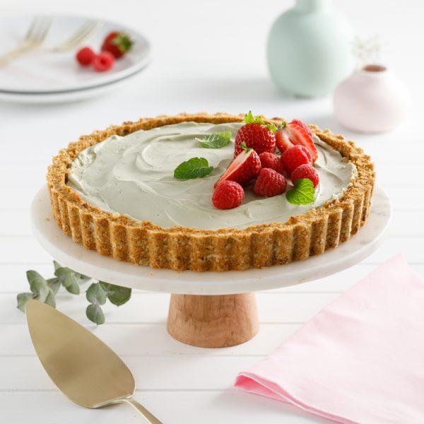 Gâteau au fromage et au thé matcha