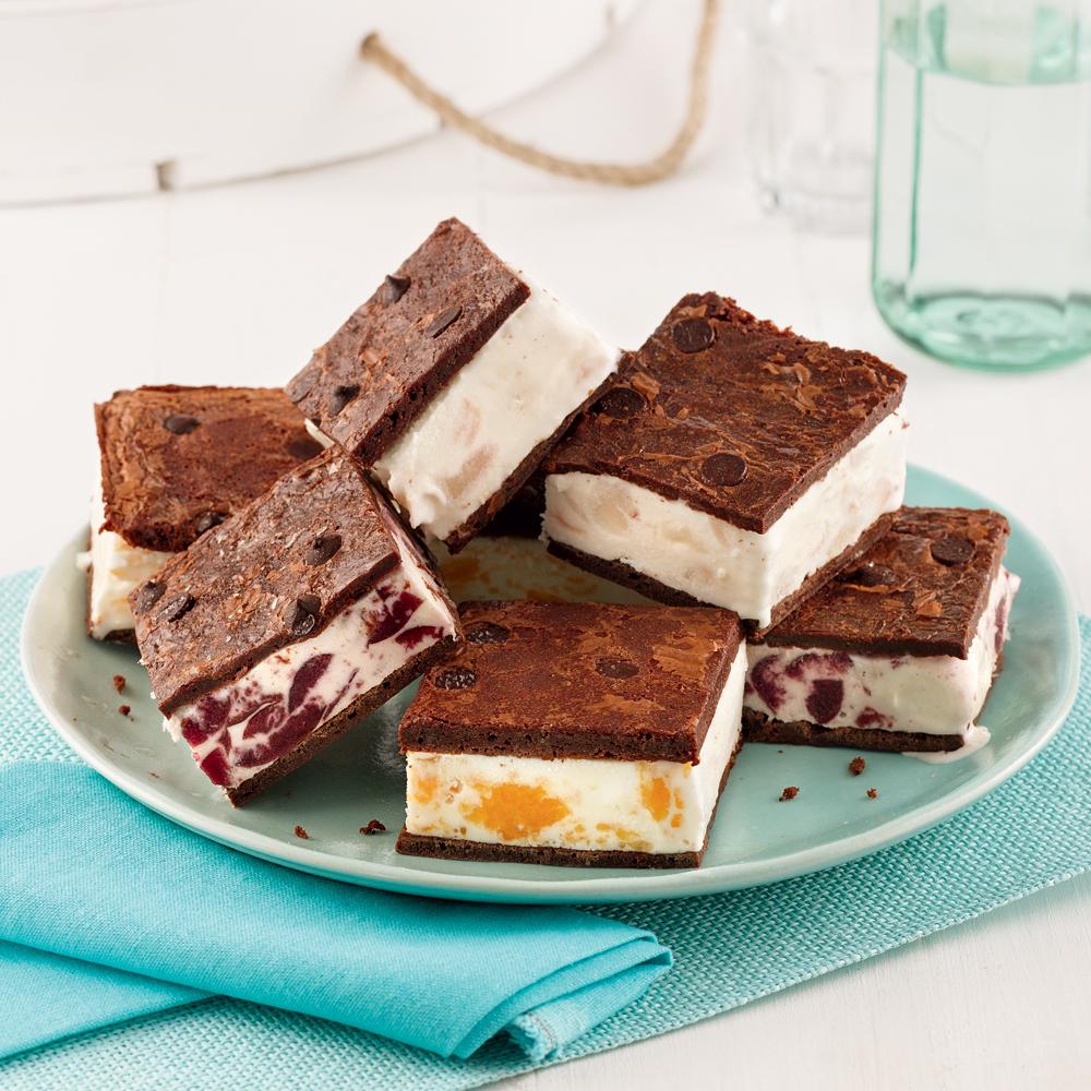 Sandwichs à la crème glacée aux fruits