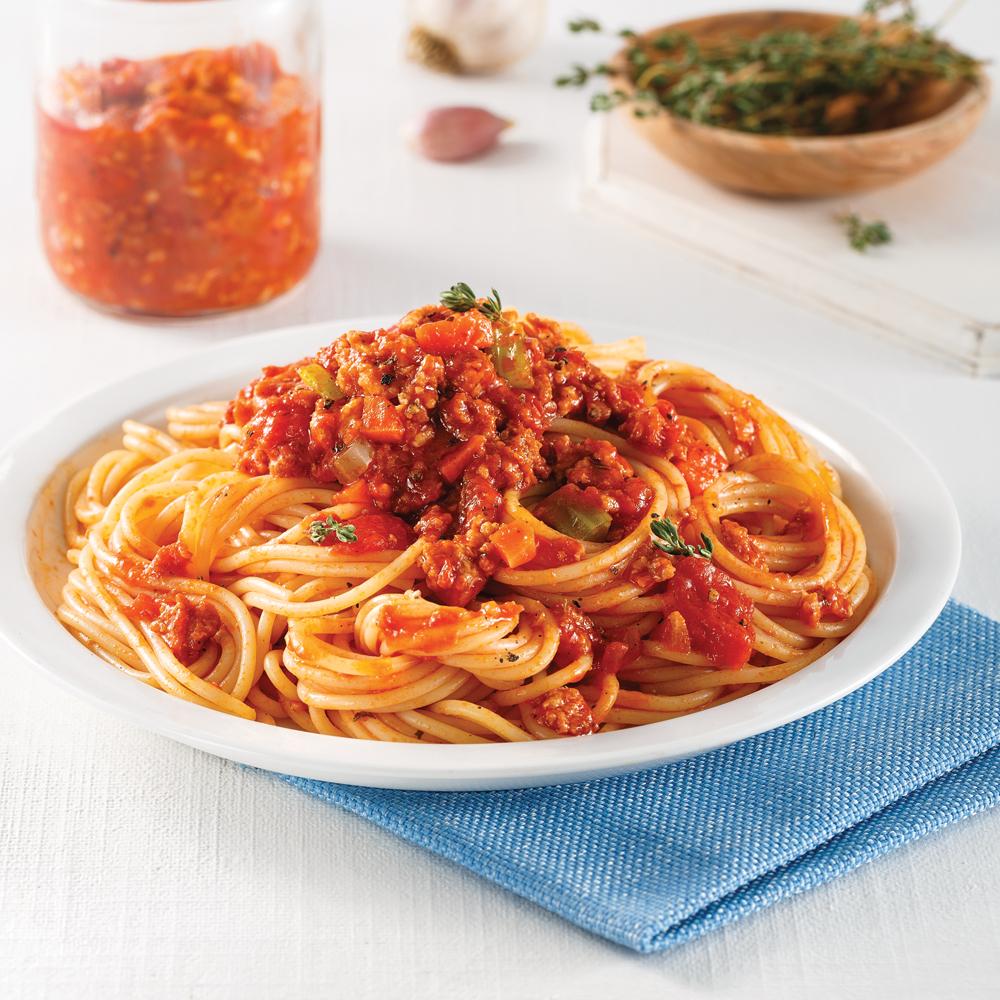 Sauce à spaghetti au poulet et saucisses italiennes
