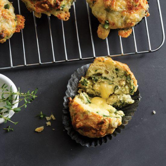 Muffins salés aux épinards et fromage Tomme au Cidre de Pommes
