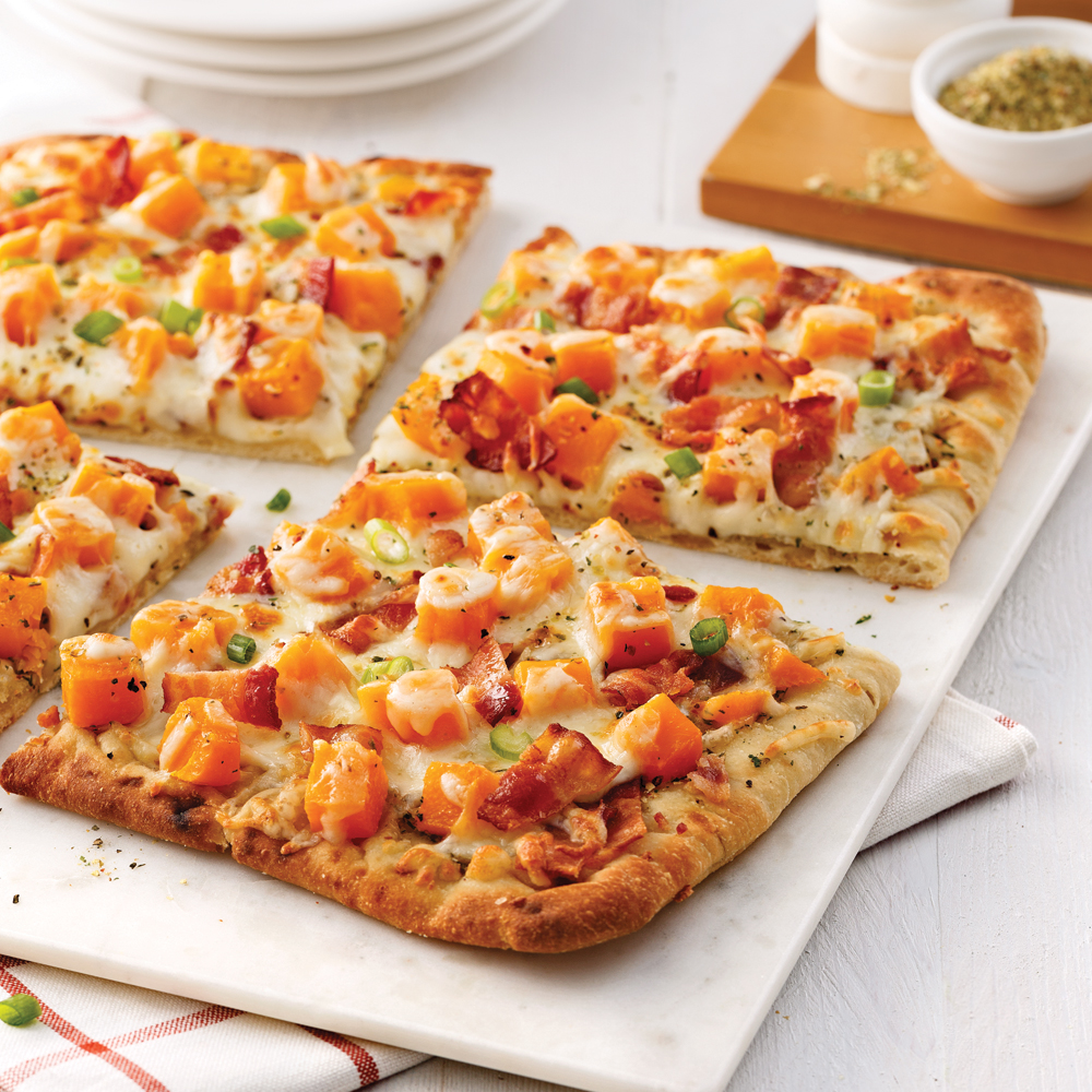 Squash and Bacon Pizza