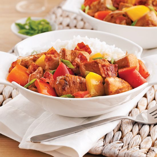 Bell Peppers and Bacon Chicken Stir-Fry