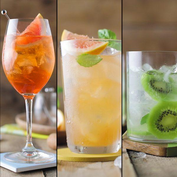Trio de cocktails estivaux