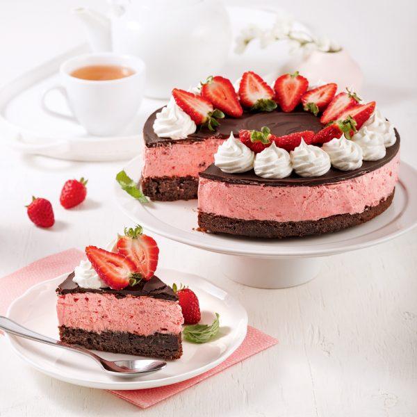 Gâteau-mousse aux fraises et chocolat