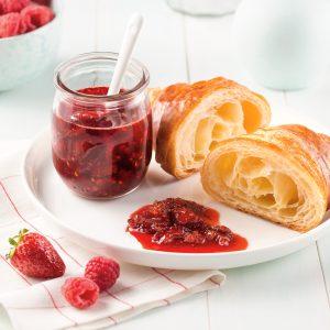 Confiture de fraises et framboises