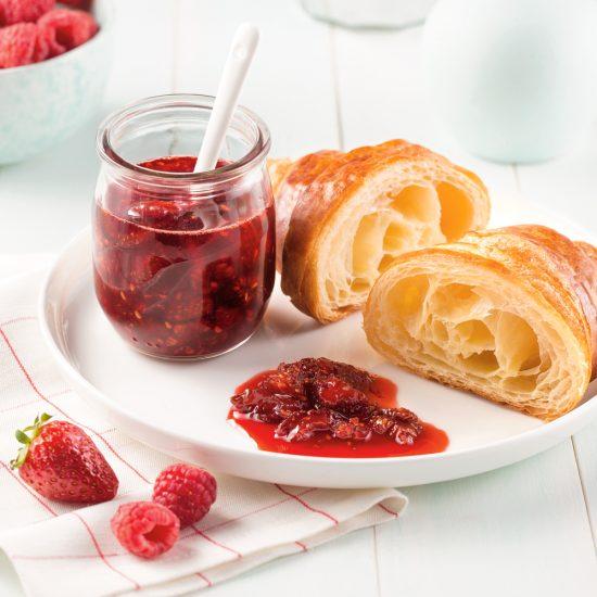 Confiture de fraises et framboises à la mijoteuse
