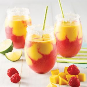Smoothie mangue et framboises