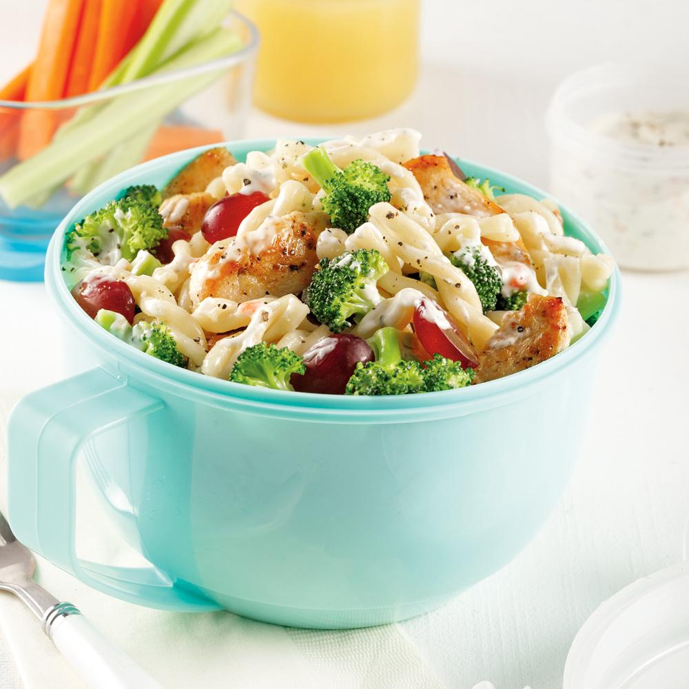 Salade de pâtes au poulet et brocoli