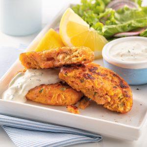 Croquettes de saumon et patate douce