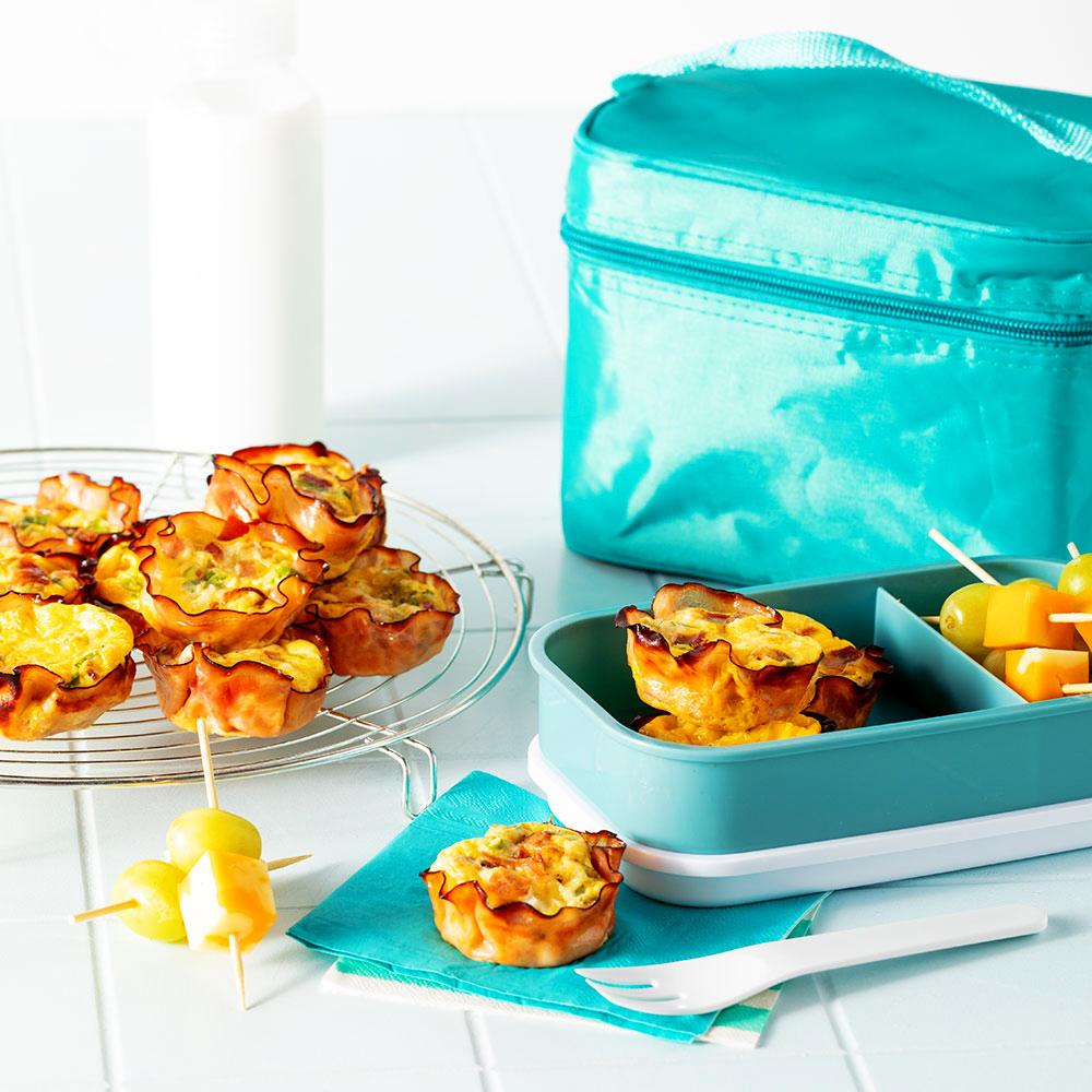 Mini-quiches jambon et bacon