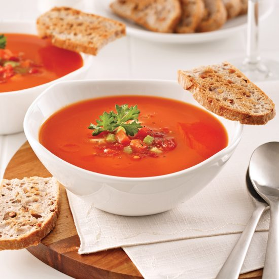 Crème de tomate aux légumes
